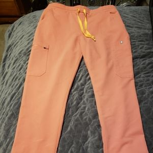 Sold on Merc Figs Scrub Pants Coral Yola Med Pet